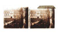 Château Da Nemours Francia Placca Da Lente Stereo 6x13cm Vintage Ca 1920