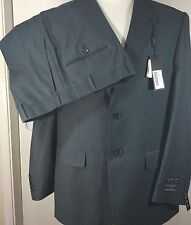 NWT Ferrecci Suit Blazer 2 pc Pierce gray pin striped  42 R Pants 36 R Mens