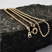 """Yellow Gold Plated Womens 20"""" Long Beads Lot Chain Necklace for Stone Pendant"""