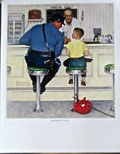 Norman Rockwell  The Runaway 14x11 Offset Lithograph Unsigned Boy Leaving Home