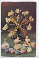 Streamline Fan Fantasy EASTER CHICKS Antique PC ca. 1910s