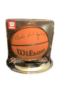 Bob Knight autographed and dedicated basketball