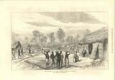 1874 Camp Of Mansu During Ashanti War On The Road To The Prah