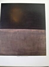 Mark Rothko Poster of 1969 Untitled Painting Black on Grey 14x11 Unsigned
