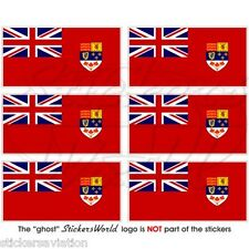CANADA Canadian RED ENSIGN Flag 40mm Mobile Cell Phone Mini Stickers, Decals x6