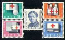 Switzerland 1963 Red Cross/Medical/Health/Nurse/Blood Transfusion 5v set n27727