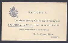 1908 UX19 MINT FACE N.Y.C.C./D.A.R. NYC CHAPTER DAUGHTERS OF AMERICAN, SEE INFO