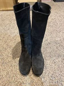Jil Sander Womens Suede Leather Boots Size: 40