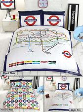 London Underground / Tube Map Reversible Duvet Quilt Cover Bedding Set