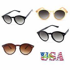 Vintage Retro Sunglasses Eyewear Round Lens Driving Sports Unisex UV Black Brown