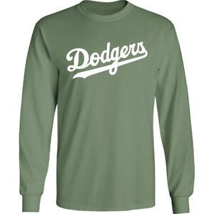 Los Angeles Dodgers Wordmark Long T-Shirt LA Men Cotton Blend