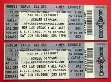 (2) ASHLEE SIMPSON 2006 HOB Las Vegas Full Concert TICKETS Pieces of Me LOVE