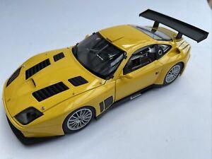 Ferrari 575GTC diecast model road race car Yellow 2004 1:18th Kyosho 8391C Box
