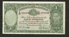 1942 ONE POUNDS - ARMTAGE/MACFARLANE - *LIGHT MAIN PRINT* - VERY FINE CONDITION
