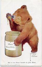 LAWSON WOOD . OURS HUMANISé. HUMANIZED BEAR. POT DE MIEL. HONEY