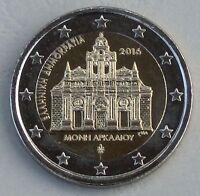 2 Euro Griechenland 2016 Kloster Arkadi unz.