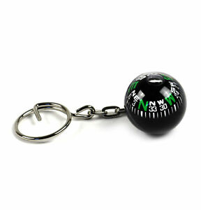 Compass Globe Key Ring