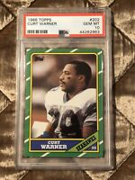 1986 Topps Football #202 Curt Warner PSA 10 Gem Mint