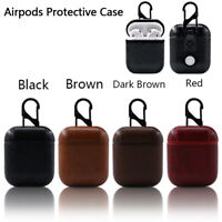 1Pcs Leather Airpods Earphone Protective Case Skin Cover F nh