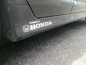 Honda..POWERED BY..Car Decals Vinyl stickers..on 12 year Vinyl x2