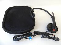 Plantronics Blackwire 300DA USB Headset W/ Microphone With Travel Carry Case