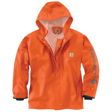 Carhartt Belfast Raincoat Jacket (l Xl) Mens PVC Orange Waterproof Coat L