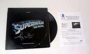 John Williams Signed Autograph Superman Vinyl Record Album Beckett BAS COA