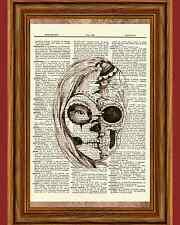 Dia De Los Muertos Gothic Skull Girl Dictionary Art Print Book Monster High