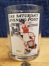 The Saturday Evening Post Glass Norman Rockwell The Body Builder