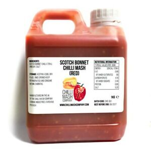 Scotch Bonnet Chilli Mash - Very Hot Chilli Puree/Paste - 1kg