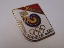 Pin's jeux olympiques Séoul 1988 - Kodak sponsor officiel XIV olympiades (EGF)