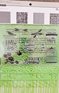 RECOLLECTIONS ** DRAGONFLY **  Stamp & Stencil Set 467067  ~ NEW