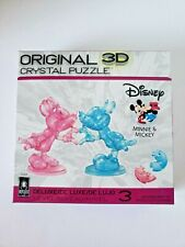 BePuzzled Deluxe 3D Crystal Puzzle 2018 Disney Minnie & Mickey Mouse Heart Hands