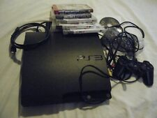 Playstation 3 PS3 Console System 320gb + 6 Games & 2 Controllers