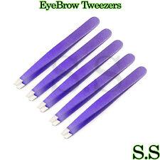 5 Pcs EyeBrow Tweezers Purple Color Manicure Instruments