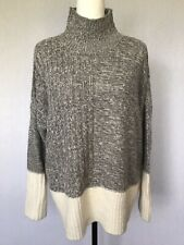 Peacocks Womens Jumper Size 12-14 Grey Long Sleeves High Neck Casual Heavyweight