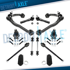 2WD Front Control Arms Ball Joints Chevy Silverado 1500 Control Arm Tie Rod 12pc