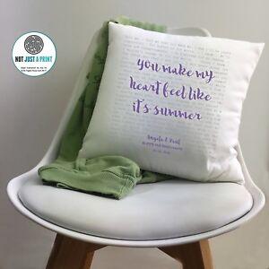Kodaline The One Song Lyrics Personalised Cushion 2nd Cotton Anniversary Gift