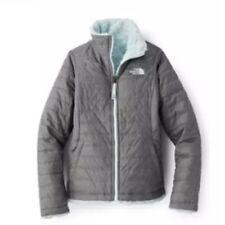 The North Face Reversible Mossbud Swirl Fleece Jacket Girls Size XXS In Med Grey