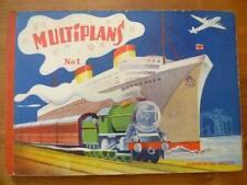 Pop Hop, Multiplans n°1, Albums du Gai Moulin, vers 1950, trains et bateaux