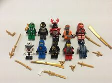 LEGO NINJAGO MINIFIG LOT of 10 MINIFIGS  Weapons Lot F484B