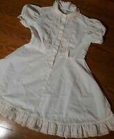 Vtg 1960s Top n Slip by Lore USA pink white slip dress Modern 8 lace bib yoke