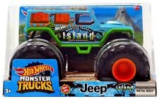 Hot Wheels Monster Trucks Jeep Diecast Car [Monster Truck Island Tours]