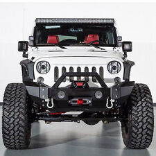 07-16 Jeep Wrangler JK Super Duty Rock Crawler Front Bumper+OE Fog Light Hole