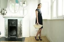 TOPSHOP Michelle Lowe Holder Black Dress Size 6 short sleeves knee length black