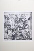 Heinz Knoke Radierung Nude Expressiv 163/200