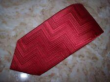 New MISSONI Red Classic Silk Tie ITALY.