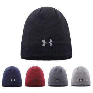 Under Armour knitted Hat Wave Stripe Beanie UA Winter Warm Sport Cap Xmas Gift