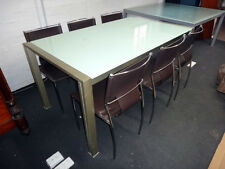 Glass Top Dinning Table and 6 Chairs, (Tempered Glass)