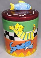 Cat Treat Jar By Vigor Cat Cookie Jar
